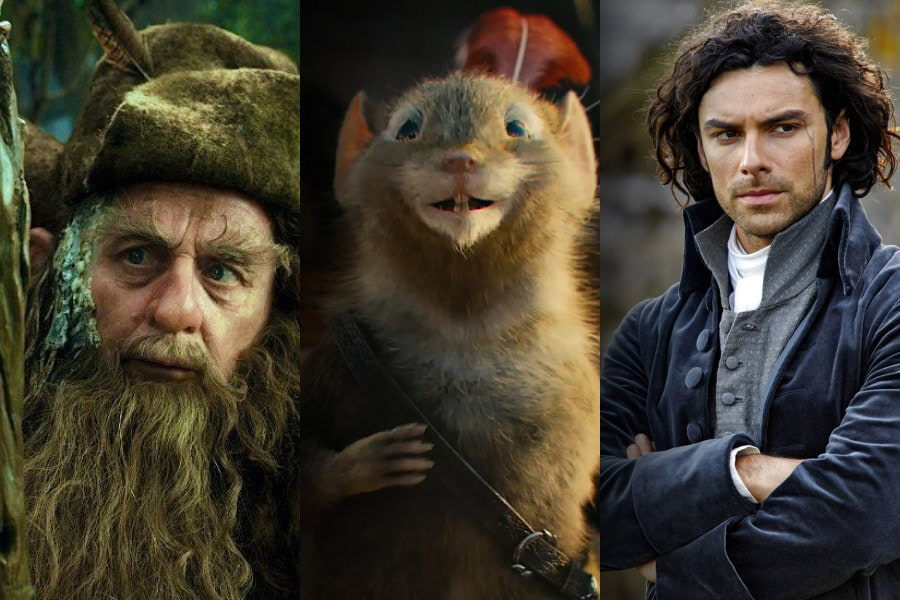 #3FictionalCharacters: Radagast, Reepicheep & Ross Poldark
