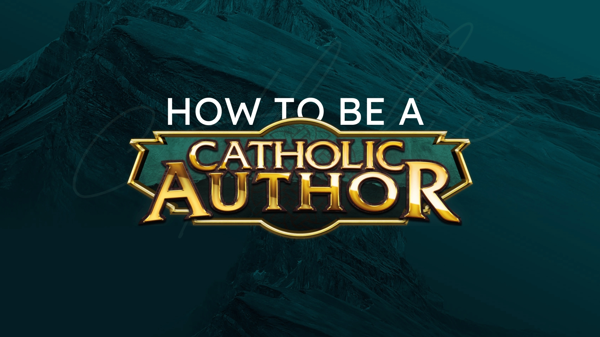Free Course: How to be a Catholic Author | Helping authors write exciting novels, connect faith with fiction, and be better Catholics!